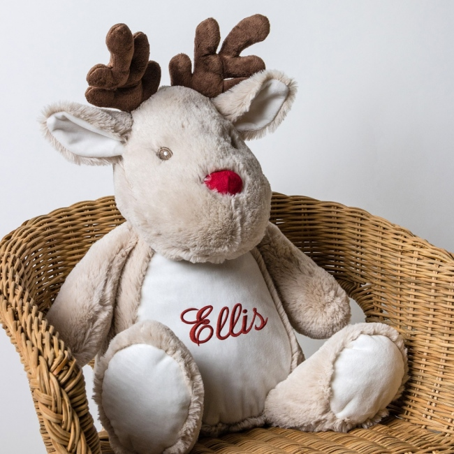 Personalised Soft Toy Reindeer