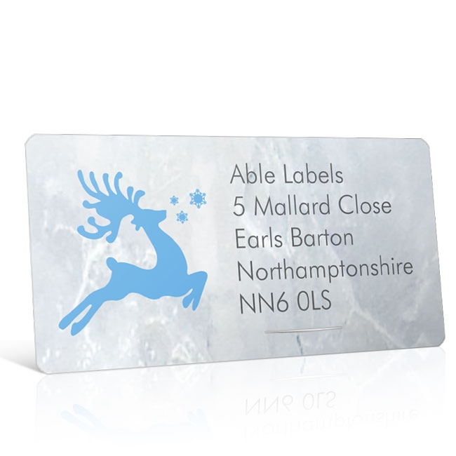 Christmas A4 Sheet Labels - Reindeer