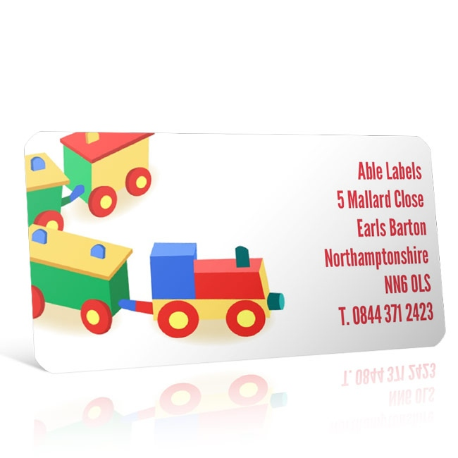 Pre Designed Toy Train Address Label on A4 Sheets