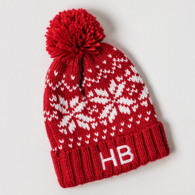 Personalised Kids Beanie Hat - Red