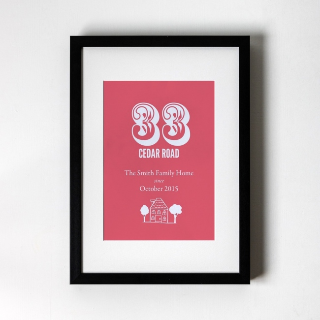 New Home - Personalised Art Print