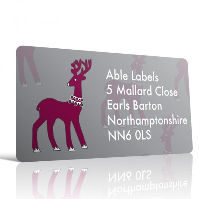 Christmas A4 Sheet Labels - Reindeer 2