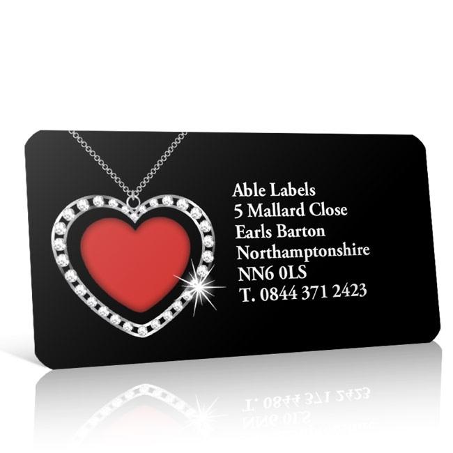 Pre Designed Heart Pendant Address Label on A4 Sheets