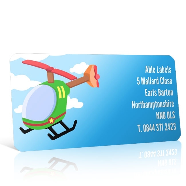 Pre Designed Helicopter Address Label on A4 Sheets