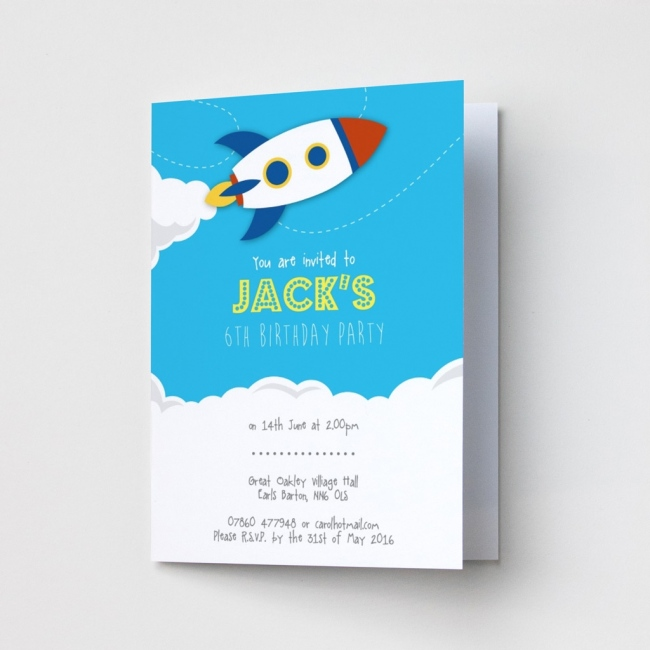 Rocket - Party Invitations