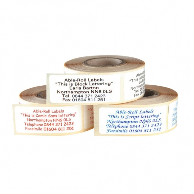 20x50 Roll Labels
