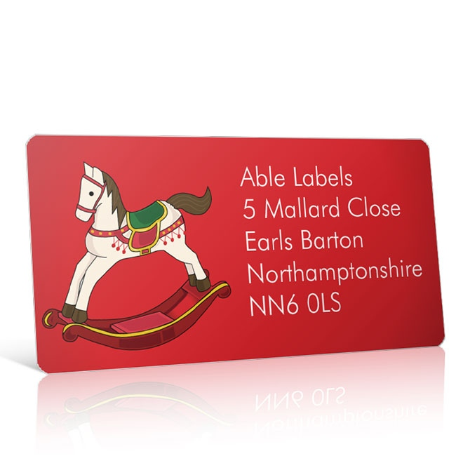 Christmas A4 Sheet Labels - Rocking Horse