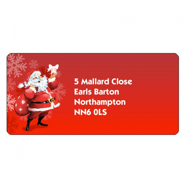 Christmas A4 Sheet Labels - Santa Labels