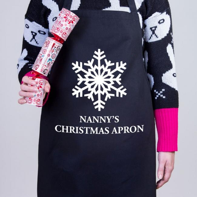 Snowflake - Christmas Personalised Apron