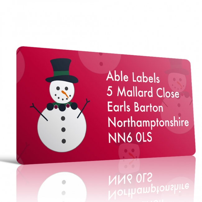 Christmas A4 Sheet Labels - Snowman