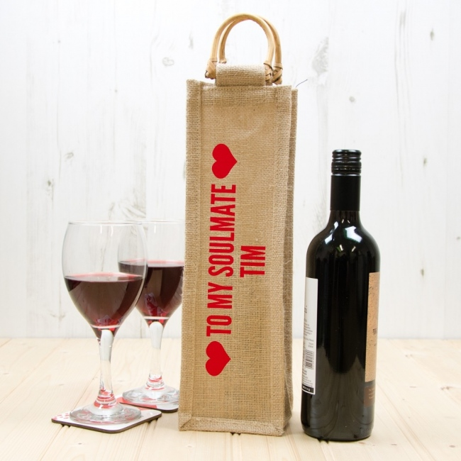 Personalised Valentine's Day Bottle Bag