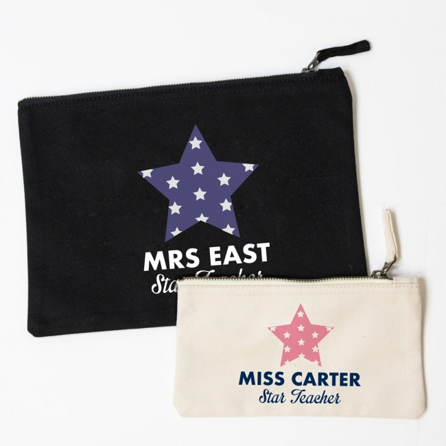 Teacher Accessory Pouch - Star Teacher