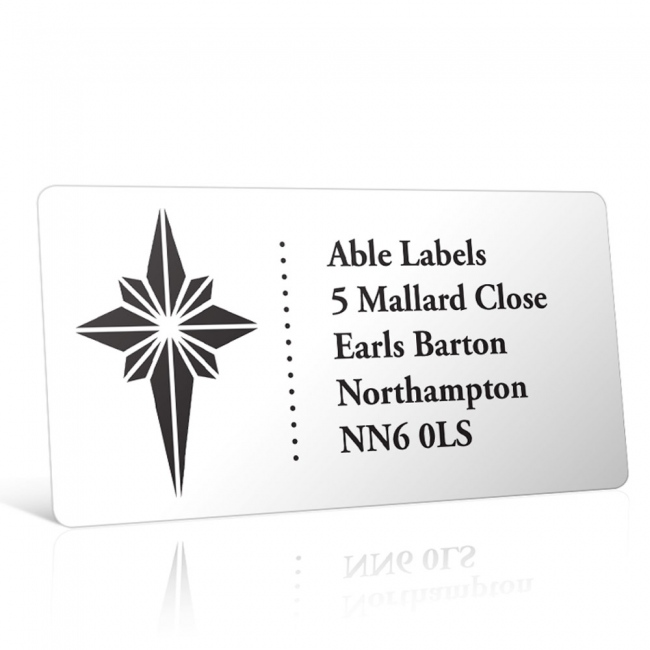 Christmas A4 Sheet Labels - Star