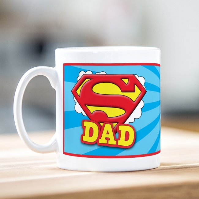 Personalised Father's Day Super Dad Mug