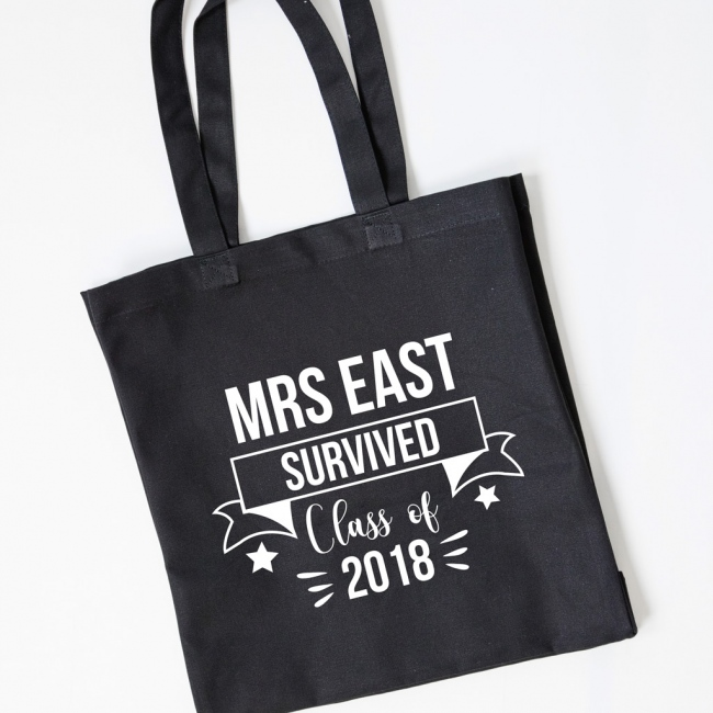 Teacher Gift Tote Bag - Survived