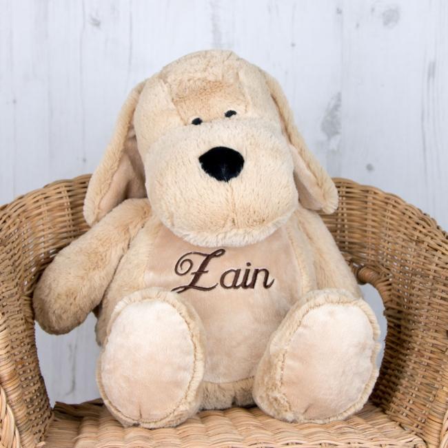 Personalised Soft Toy Dog