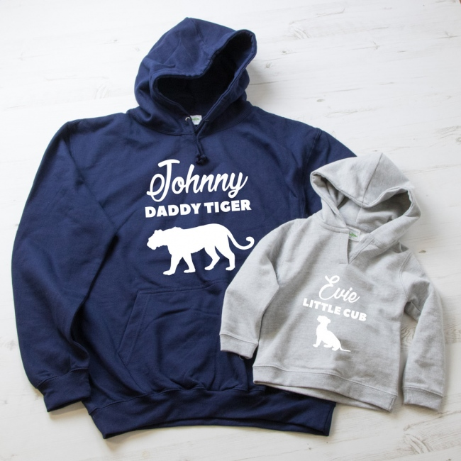 Daddy Tiger & Little Cub Hoodie Set