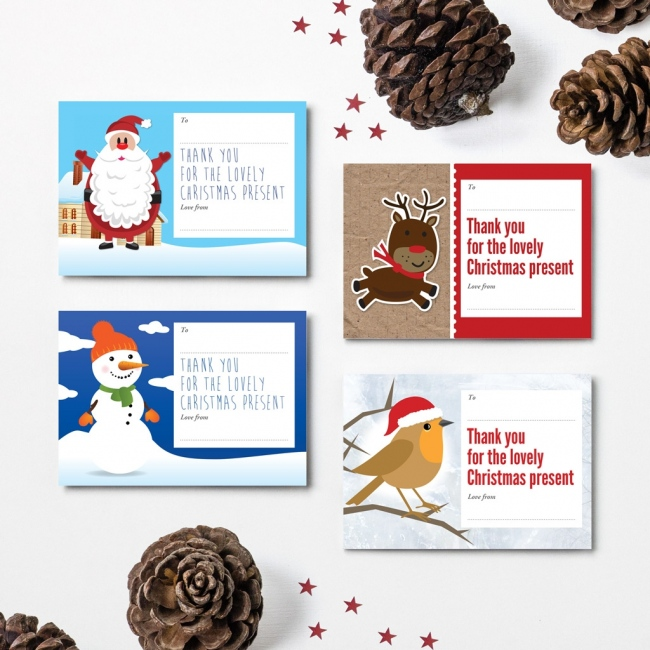 Christmas Thank You Cards - Design 1