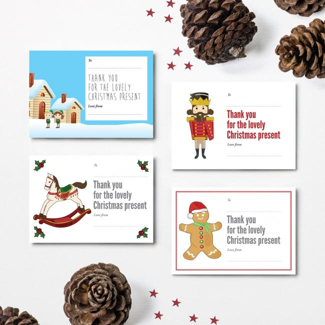 Christmas Thank You Cards - Design 2
