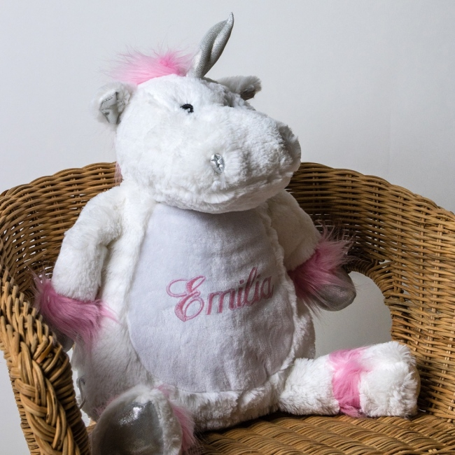 Personalised Soft Toy Unicorn
