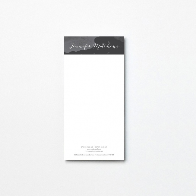 Watercolour Tear Off Notepad
