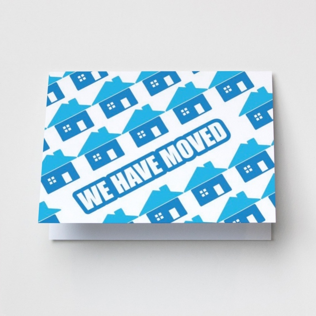 Blue Houses - Change of Address Cards