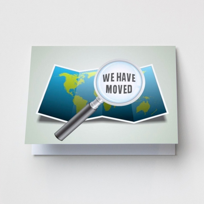 Magnifying Glass - Change of Address Cards