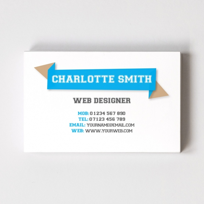 Web Design Templated Business Card 1