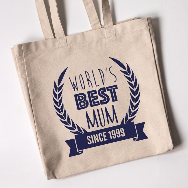 Personalised Tote Bag - World's Best Mum