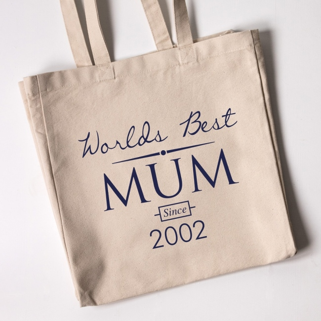 Personalised Tote Bag - World's Best Mum 2
