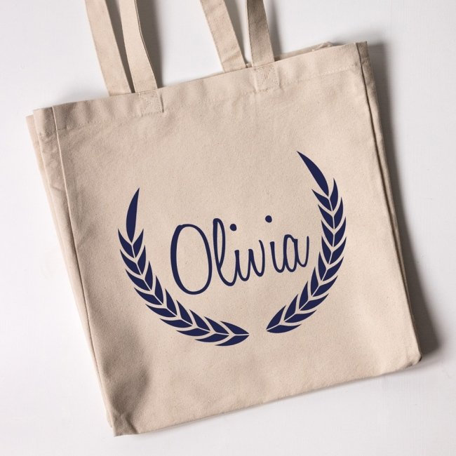 Personalised Tote Bag - Laurel Wreath