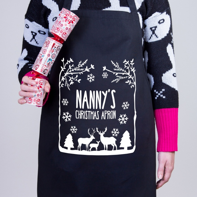 Personalised Christmas Apron - Winter Wonderland