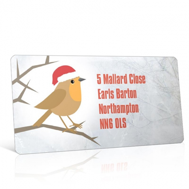 Christmas A4 Sheet Labels - Winter Robin