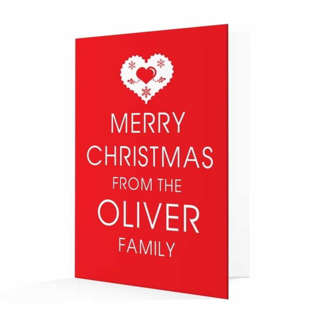Premium Christmas Cards - Heart Design