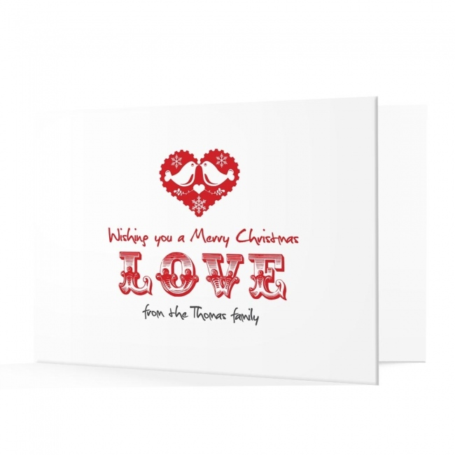 Premium Christmas Cards - Love Design
