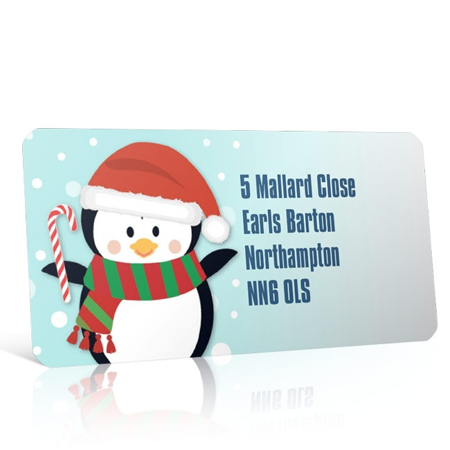 Christmas A4 Sheet Labels - Penguin