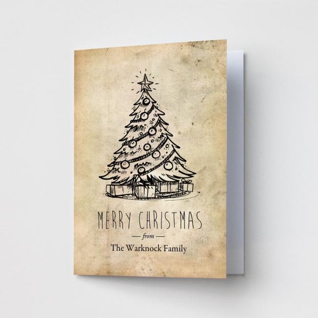 Premium Christmas Cards - Vintage Christmas Tree