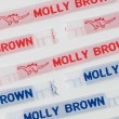 Sew In Name Labels – 8mm Large Capital Letters