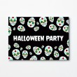 Halloween A6 Invitation - Skull (Dark)