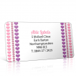 Pre Designed Hearts Stripe Address Label on A4 Sheets