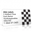 Pre Designed Chequered Flag Address Label on A4 Sheets