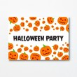 Halloween A6 Invitation - Pumpkin