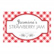 Gingham Red - Jam Jar Labels