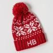 Personalised Kids Beanie Hat - Red