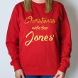 Personalised Christmas Jumper - Text Only (Red)