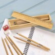 Personalised Retro Wooden Pencil Box