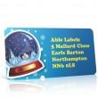 Christmas A4 Sheet Labels - Snow Globe