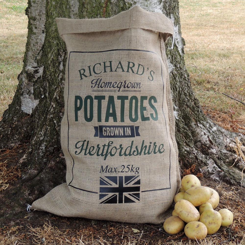 Personalised Hessian Sacks