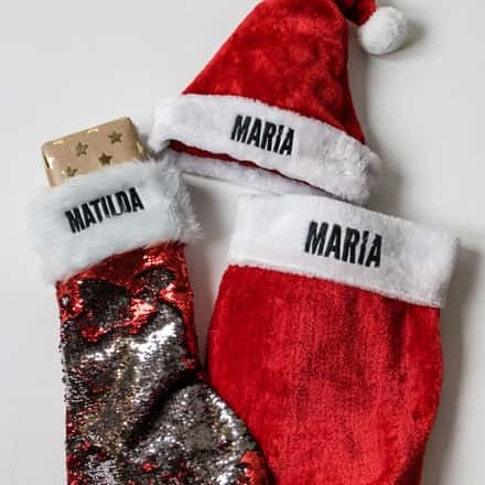 Personalised Christmas Stockings and Hats
