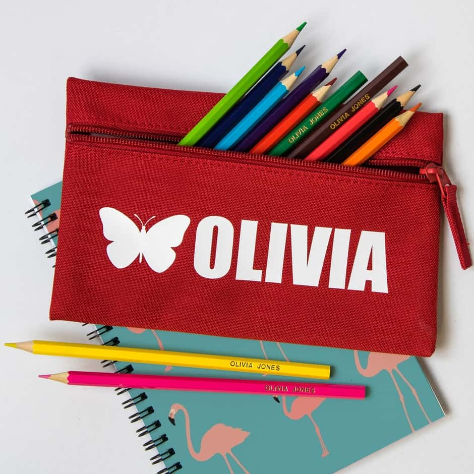 Personalised Pencils, Pencil Cases and Notebooks